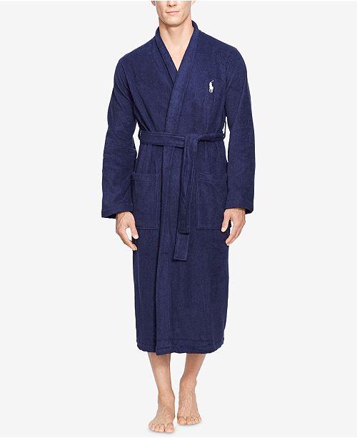 Polo Ralph Lauren Men's Big & Tall Shawl Cotton Robe