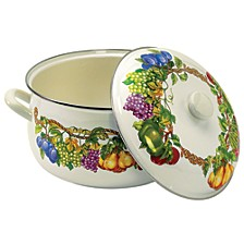 Kensington Garden Porcelain Enamel 8 Qt Covered Casserole