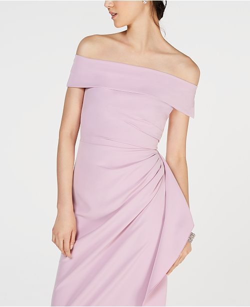 e15397c940c Vince Camuto Ruffled Off-The-Shoulder Gown   Reviews - Dresses ...