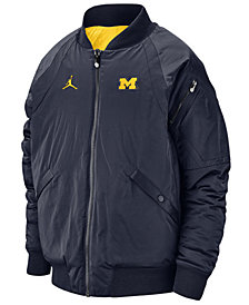 Jordan Men's Michigan Wolverines Iconic Diamond Shape Bomber Jacket