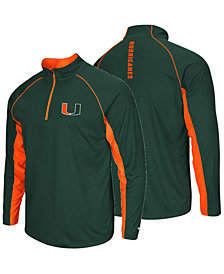Colosseum Men's Miami Hurricanes Rival Quarter-Zip Pullover