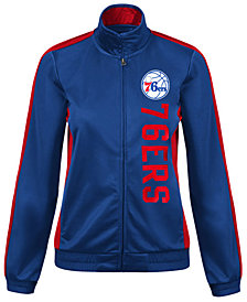 G-III Sports Women's Philadelphia 76ers Backfield Track Jacket