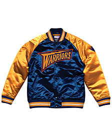 Mitchell & Ness Men's Golden State Warriors Tough Season Satin Jacket