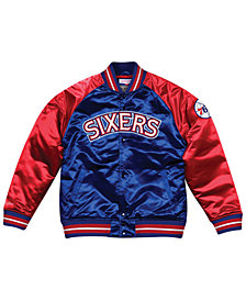 Mitchell & Ness Men's Philadelphia 76ers Tough Season Satin Jacket