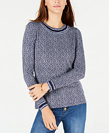 MICHAEL Michael Kors Border-Trim Printed Top, In Regular & Petite Sizes