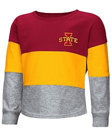Colosseum Iowa State Cyclones Tricolored Long Sleeve T-Shirt, Toddler Girls (2T-4T)