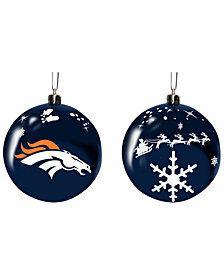 "Memory Company Denver Broncos 3"" Sled Glass Ball"