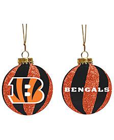 """Memory Company Cincinnati Bengals 3"""" Sparkle Glass Ball"""