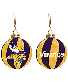 "Memory Company Minnesota Vikings 3"" Sparkle Glass Ball"