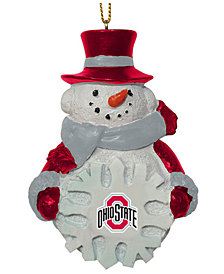 Memory Company Ohio State Buckeyes Snowflake Snowman Ornament