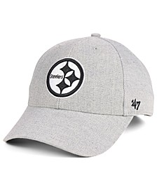Pittsburgh Steelers Heathered Black White MVP Adjustable Cap