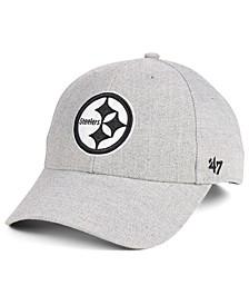 Pittsburgh Steelers Heathered Black White MVP Adjustable Cap