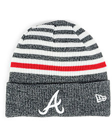 New Era Atlanta Braves Striped Cuff Knit Hat