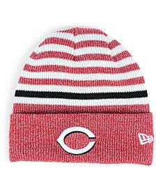 New Era Cincinnati Reds Striped Cuff Knit Hat