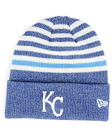 New Era Kansas City Royals Striped Cuff Knit Hat