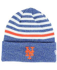 New Era New York Mets Striped Cuff Knit Hat