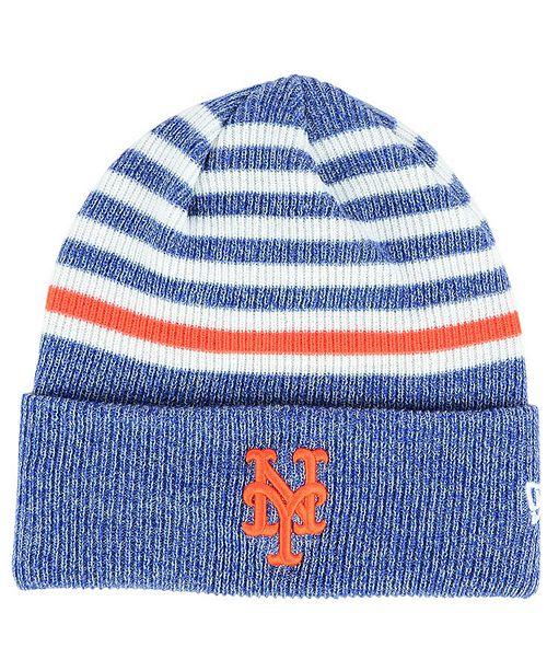 28a28e0e6a5 New Era New York Mets Striped Cuff Knit Hat - Sports Fan Shop By ...