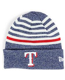 New Era Texas Rangers Striped Cuff Knit Hat