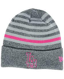 New Era Los Angeles Dodgers Striped Cuff Knit Hat