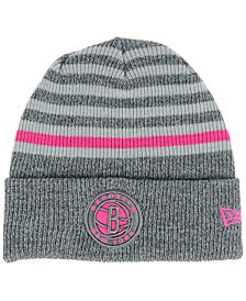 New Era Brooklyn Nets Striped Cuff Knit Hat