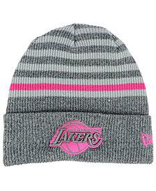 New Era Los Angeles Lakers Striped Cuff Knit Hat