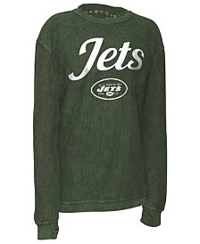 Pressbox Women's New York Jets Comfy Cord Top