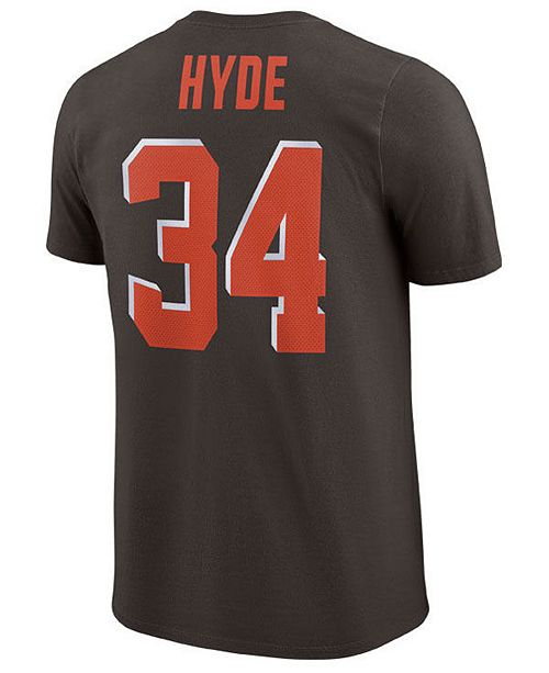 new arrivals 0da88 42fd7 Nike Men's Carlos Hyde Cleveland Browns Pride Name and ...