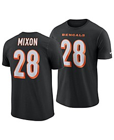 Men's Joe Mixon Cincinnati Bengals Pride Name and Number Wordmark T-Shirt