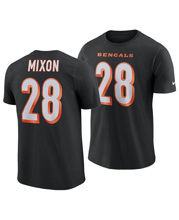 Nike Men's Joe Mixon Cincinnati Bengals Pride Name and Number Wordmark T-Shirt