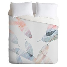 Deny Designs Iveta Abolina Coral Shoreline Queen Duvet Set