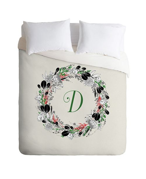 Deny Designs Iveta Abolina Silver Dove Christmas D Queen Duvet Set