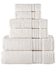 Ivory Turkish Spa Collection 6-Pc Cotton Towel Set