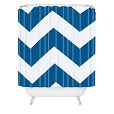 Holli Zollinger Denim Chevron Shower Curtain