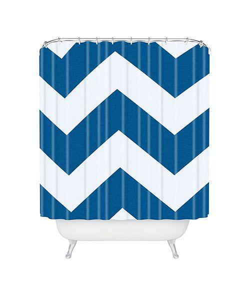 Deny Designs Holli Zollinger Denim Chevron Shower Curtain