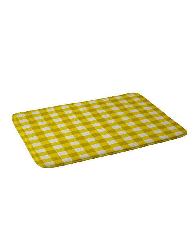 Deny Designs Holli Zollinger Yellow Gingham Bath Mat