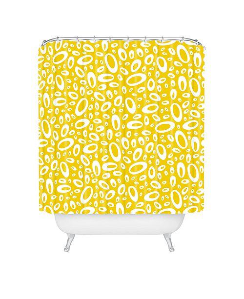 Deny Designs Heather Dutton Molecular Yellow Shower Curtain
