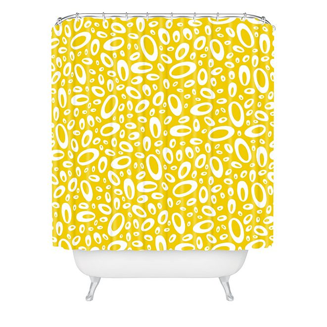 Deny Designs Heather Dutton Molecular Yellow Shower Curtain