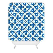 Deny Designs Holli Zollinger Four Dot Blue Shower Curtain