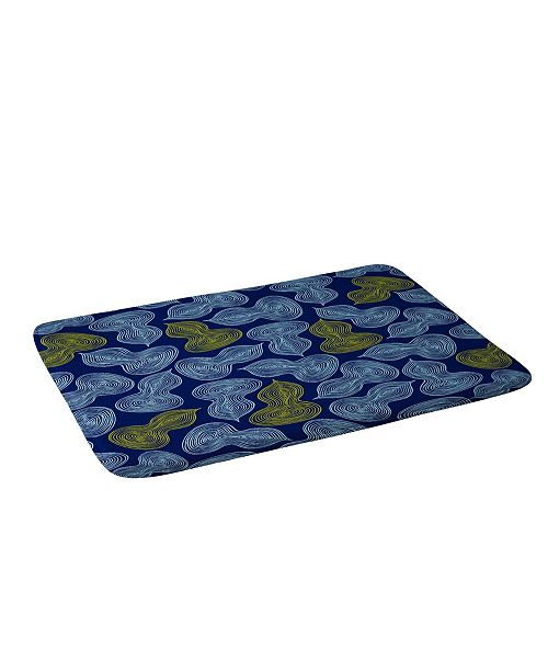Deny Designs Heather Dutton Leaflet Marine Bath Mat