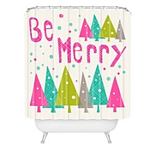 Heather Dutton Be Merry Shower Curtain