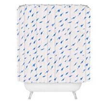 Deny Designs Holli Zollinger Folka Bolt Blue Shower Curtain