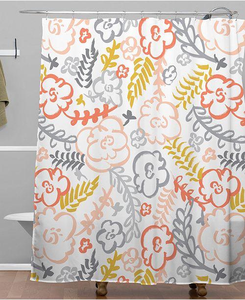 Deny Designs Heather Dutton Floral Brush Shower Curtain