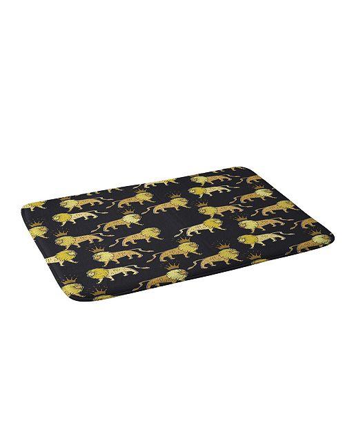 Deny Designs Holli Zollinger Leo Lion Black And Bath Mat