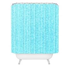 Holli Zollinger Linen Aqua Shower Curtain