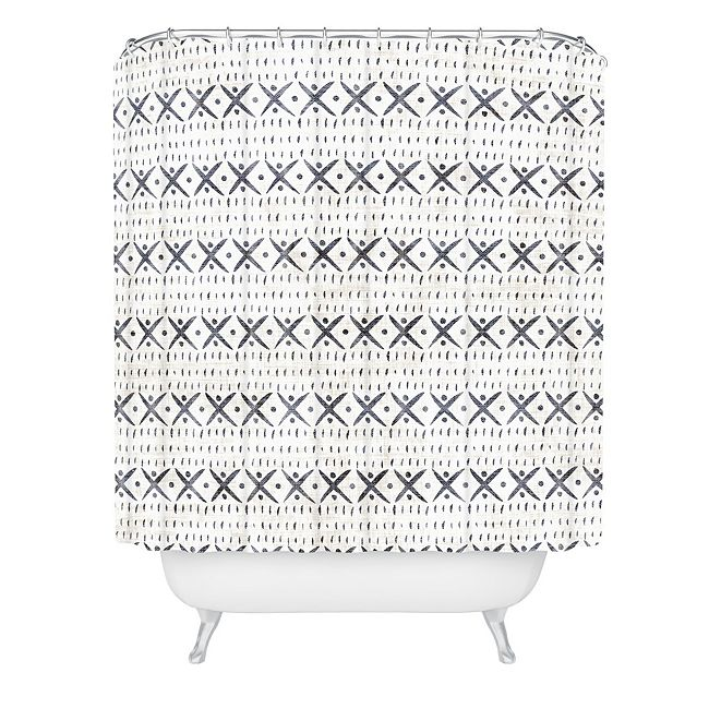 Deny Designs Holli Zollinger Adobo Mudcloth Shower Curtain