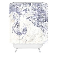 Holli Zollinger French Linen Marble Shower Curtain