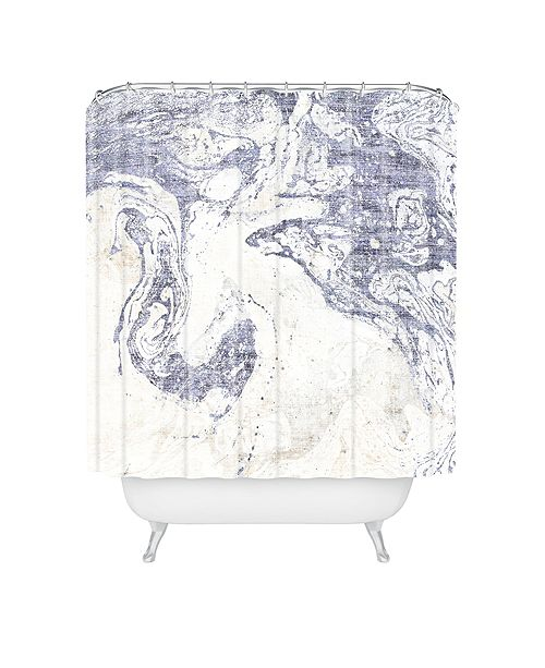 Deny Designs Holli Zollinger French Linen Marble Shower Curtain