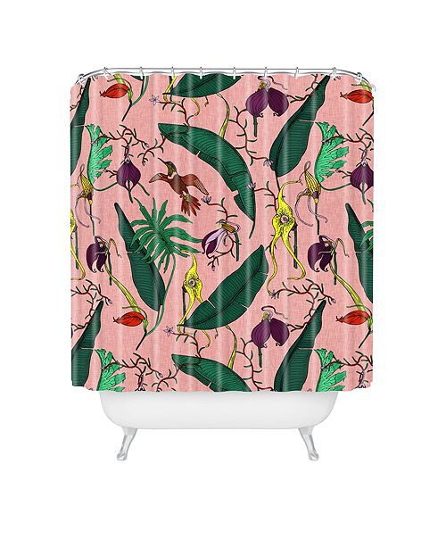 Deny Designs Holli Zollinger Orchid Garden Pink Shower Curtain