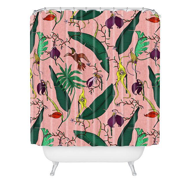 Deny Designs Holli Zollinger Orchid Garden Pink Shower Curtain