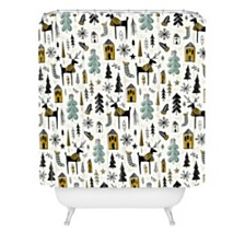 Deny Designs Heather Dutton Christmas Wonderland Shower Curtain